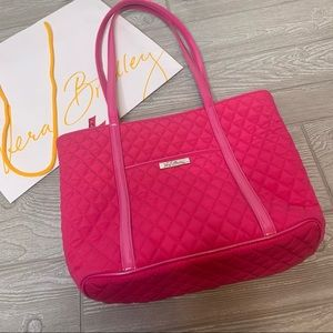 NWOT Vera Bradley hot pink tote bag